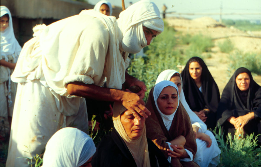 Chrzest Mandejczyków, wyprawa do Iranu 1999, foto: Jarosław Fret