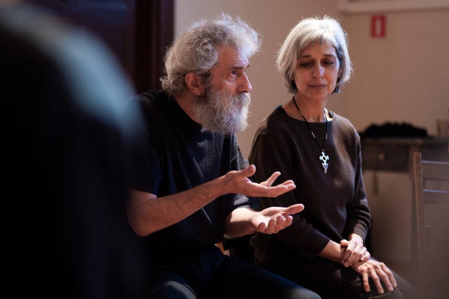 Aram Kerovpyan i Virginia Kerovpyan , Studio Śpiewu Modalnego, Wrocław 2010, fot. Magdalena Mądra
