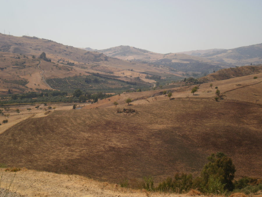 View from Caltanisetta province Sicily 2011
