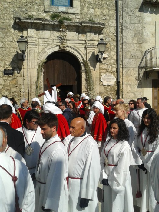 Beginning of Holy Fridays, procession. Mussomeli 2017