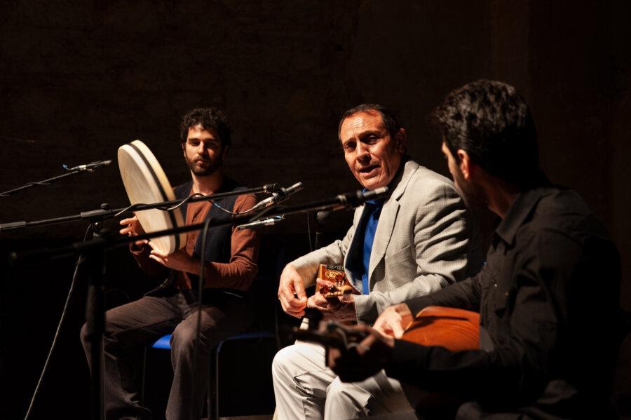 Dengbej Kazo, concert Florence, 2015, phot. Magdalena Mądra