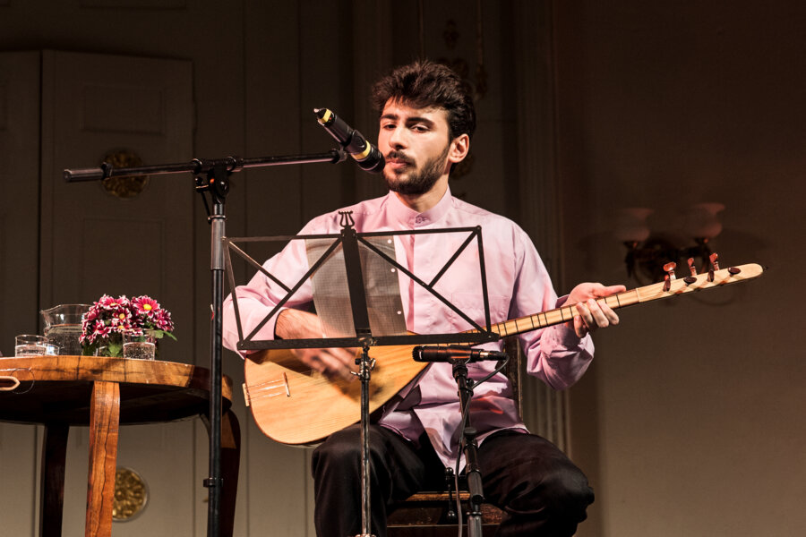 Murat Iclinalca, 2013, concert in Wrocław, The White Stork Synagogue, phot. Magdalena Mądra