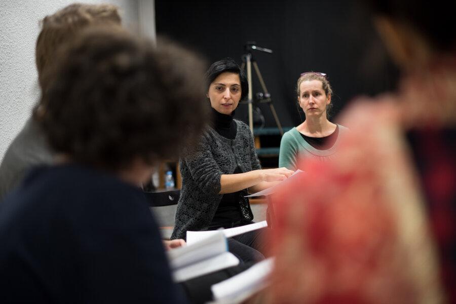 Selda Özturk, warsztaty w Residui Teatro, Madrid 2017, fot. Magdalena Mądra