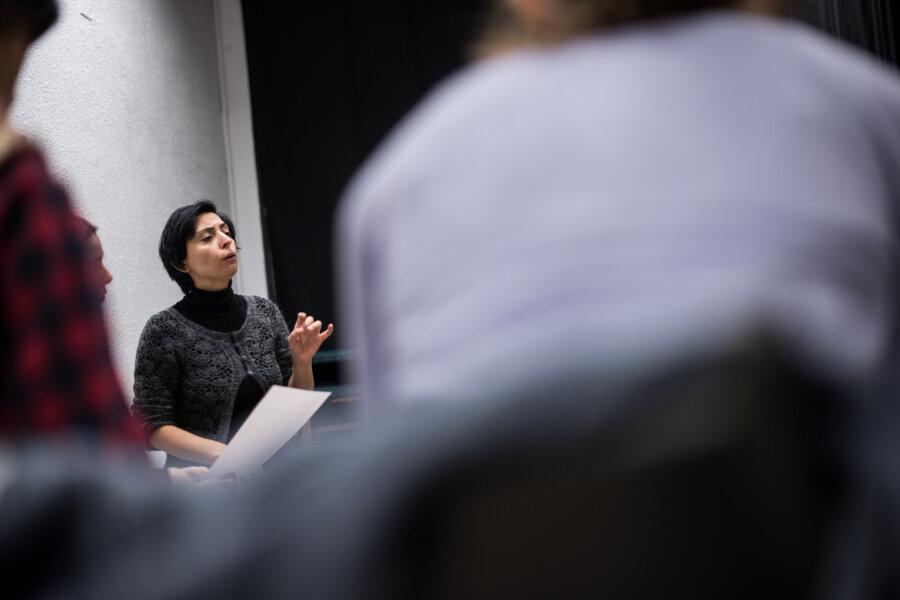 Selda Öztürk,, workshop, Residui Teatro, Madrid 2017, phot. Magdalena Mądra