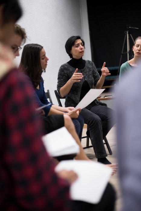 Selda Öztürk, workshop, Residui Teatro, Madrid 2017, phot. Magdalena Mądra